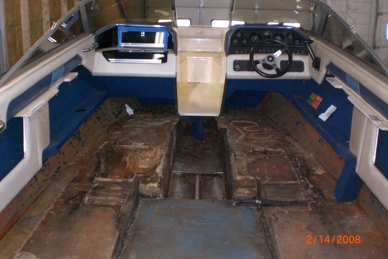 Complete floor stringer replacement john39s fiberglass for Replacing boat floor